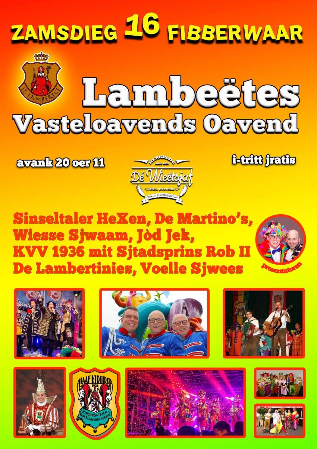 Lambeëtes Vasteloavends Oavend 2019